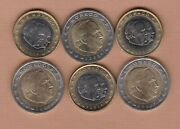 Six Monaco 2002 One Euro And Two Euro Coins In Near Mint Condition
