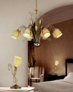 Suspended Lights Classic Metal Silver And Glass Of Murano Gold