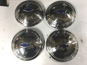 4 - New 1935-36 Chevy Truck Stainless Hubcaps For 17 Artillery Wheels