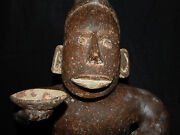 Pre-columbian Jalisco Effigy Seated Figure Authentic Excellent Condition