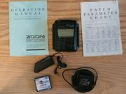 Zoom 9002 Digital Guitar Effects Processor W/remote, Battery,manual And Ac Adapter