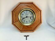 Wwi Seth Thomas Brass Ship Deck Clock Double Spring Movement Working