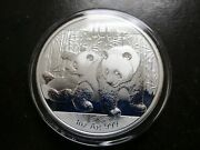 2010 China Panda 1 Oz .999 Fine Silver Coin With Capsule