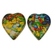 Vtg 1950and039s German Paper Mache Easter Or Valentineand039s Candy Container - Set Of 2