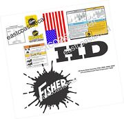 Fisher Hd Series Skid Steer Snow Plow Decals Kit For Hd 27500 28000 29000 74000