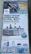 Intex 14 Foot X 42 Inch Prism Frame Above Ground Swimming Pool Set With Filter