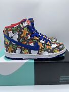 Nike X Concepts Sb Dunk High Ugly Christmas Sweater Size 5.5