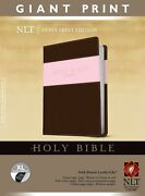 Nlt Giant Print Bible-pink/brown Tutone Indexed
