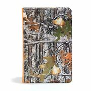 Csb Sportsman S Bible-large Print Personal Size Mothwing Camouflage Leathertouch