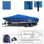 Sleekcraft Diplomat 21and039 Performance Trailerable Jet Boat Cover Blue