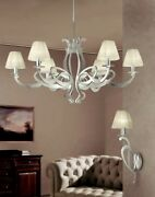 Suspended Lights Classic Metal Silver And Lampshade