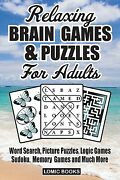 Relaxing Brain Games And Puzzles For Adults Word Search, Picture Puzzles, Logic