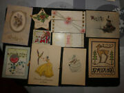 Lot 36 Images Pieuses Anciennes Joyeux Noel Happy Christmas Holy Cards Debut Xxe