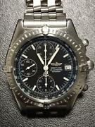 Breitling Blackbird A13050 Stainless Steel Chronograph Automatic Wrist Watch