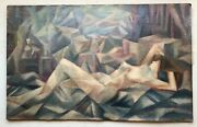Cubism Original French Oil Painting Nude Woman In The Studio Metzinger