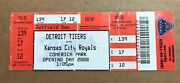 2008 Opening Day @ Comerica Miguel Cabrera Hr 139 Tigers Royals Full Ticket