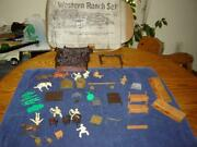 Marx Western Ranch Set With Box Not Complete For Extra Parts And Accessories Vg+