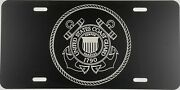 New Us Coast Guard A1 Seal Laser Engraved License Plate Car Tag Gift Flat Black