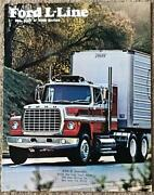 Ford L-line Usa Commercial Sales Brochure Aug 1976 Fdt-7720 8000 9000 Series+