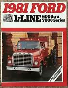 Ford L-line Usa Commercial Sales Brochure Aug 1980 Fdt-8119 8/80