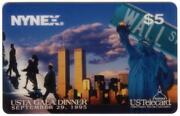 5. And039usta Gala Dinnerand039 9/29/95 New York Wtc And Statue Of Liberty Phone Card