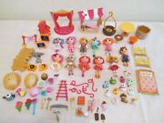 Lalaloopsy Mini Doll Figure Random Lot Of 11 With Pets And Accessories Rare