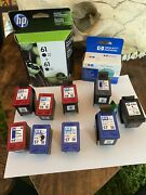 11 Used Empty Virgin And 3 Expired Hp Ink Cartridges 56 57 58 61 63xl 51625a 60