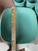 Fiestaware Blue Turquoise Square Lunch Plate Fiesta Luncheon Plate