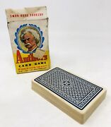 Vintage Authors Card Game, Whitman 3010, Mark Twain On Cover A21
