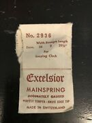 Excelsior 2936 Mainspring For Looping Clock