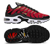 New Nike Air Max Plus Women Athletic Shoes Red/black/gold Cu4919-600 Sz 9.5