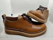 Size 7d Coach Derby Lace Up Smooth Brown Leather Menandrsquos Boots G1671