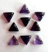 Natural African Amethyst Triangle Shape Cabochon Loose Gemstone Size 16mm - 20mm