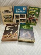 Lot Of 6 Nfl 5punt Pass And Kick Library Vintage Book Set And Players Choice Book