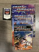 Transformers G1 Checklist Poster And Catalogs Vintage 1984 Hasbro Lot