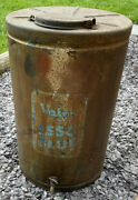 Very Big 25 Inches Tall Vintage Paraffn Valor Oil Esso Blue Tank Can