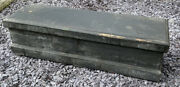 Nice Old Wooden Toolbox Box Chest And Working Lock And Key