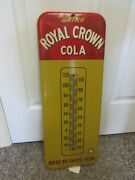 Vintage Advertising Royal Crown Cola Soda Tin Thermometer Store Diaplay A-460