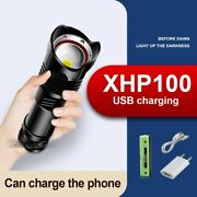 Led Flashlight Torch Usb Rechargeable Powerful Tactical Lamp Camping Lanterns