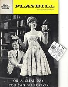 John Cullum Signed On A Clear Day Alan Jay Lerner And03965 Opening Night Playbill