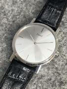 Piaget 963349 327008 750 Swiss White Gold Analog Menand039s Watch Shipped From Japan