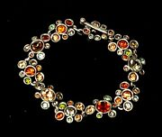 Stunning Patricia Locke Silver Plate 7 5 Bracelet Thicket Crystals