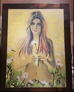"""Eva Of Garden Of Eden Acrylic Painting Framed 22""""x 28"""" By Sofia Art Page"""