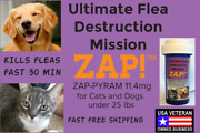 Zap Instant Flea Control Killer 50 Capsules 11.4mg Cats And Dogs 25lb Freeship
