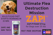 Zap Instant Flea Control Killer 50 Capsules 57mg Large Dogs 25lb Free Shipping