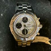 Breitling A13335 Colt Chronograph Auto Analog Menand039s Watch Shipped From Japan