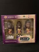 Kobe Bryant, Shaquille O'neal And Rick Fox Los Angeles Lakers Bobbleheads