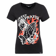 Queen Kerosin Street Prayer Ladies Fashionable Classic T-shirt Black