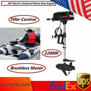 48v Electric Outboard Motor Boat Engine 2200w Brushless Motor Water Propeller Us