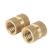Solid Brass Injection Molding Knurled Thread Inserts Nuts M2 M2.5 M3 M4 M5 M6 M8